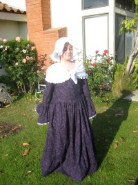A widow's dress with shawl and mobcap for a Colonial Days presentation in 5th grade.