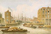 Transportation in the Regency Era: Regent's Canal, Limehouse 1823