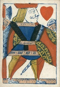 Image of a playing card from Hall & Sons, early 19th century.