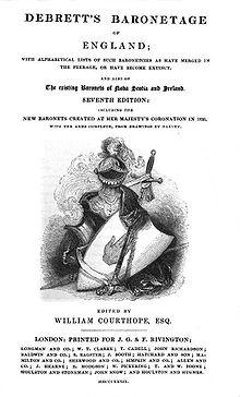 A copy of Debrett's Peerage and Baronetage