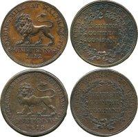 Regency Era Currency: One Penny, copper tokens, 1812.