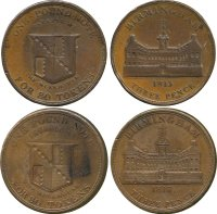 Regency Era Currency: 1813 Three Pence, copper tokens.