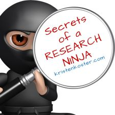 Click image to visit the Research Workshops page. [Research Ninja logo: www.kristenkoster.com]