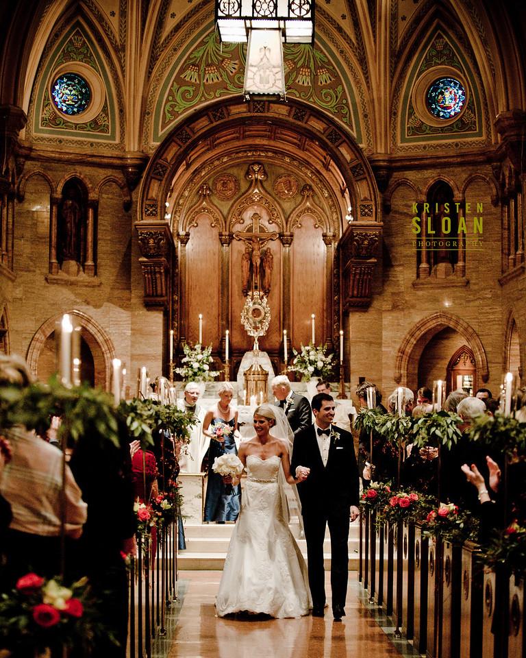 bride groom walking aisle holy ghost wedding
