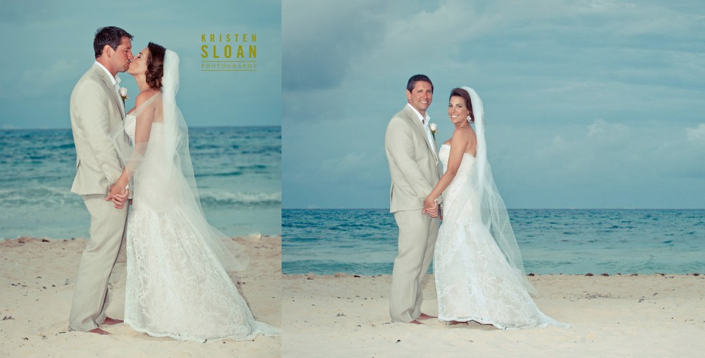 mexico beach wedding