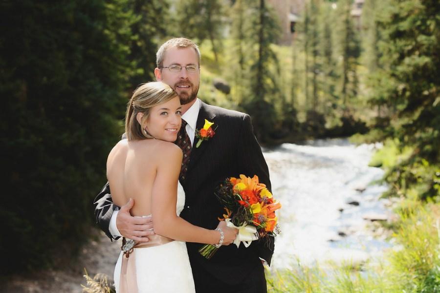 Gore Creek Vail wedding photos