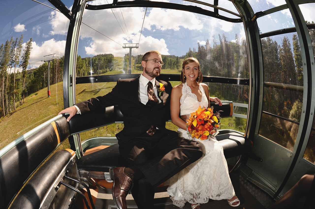 Vail Gondola wedding photos