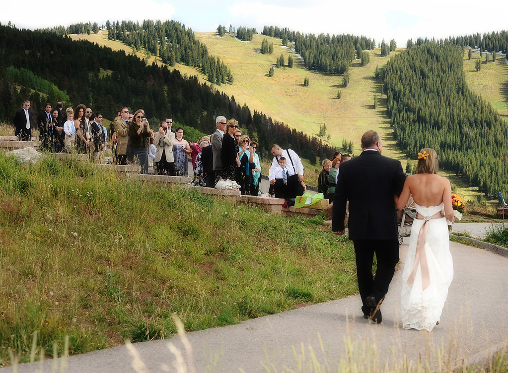 Vail mountaintop wedding