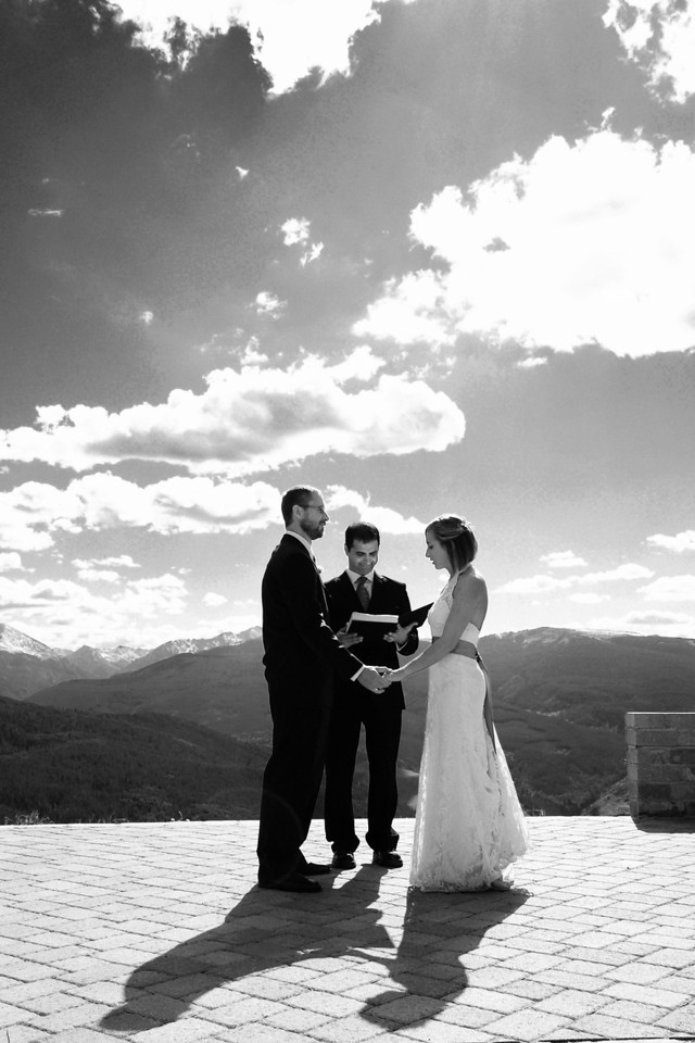 Vail Colorado outdoor wedding