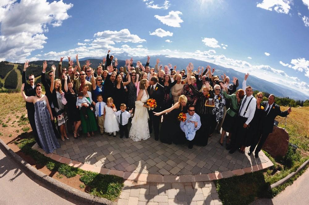 Vail mountaintop wedding game creek bowl