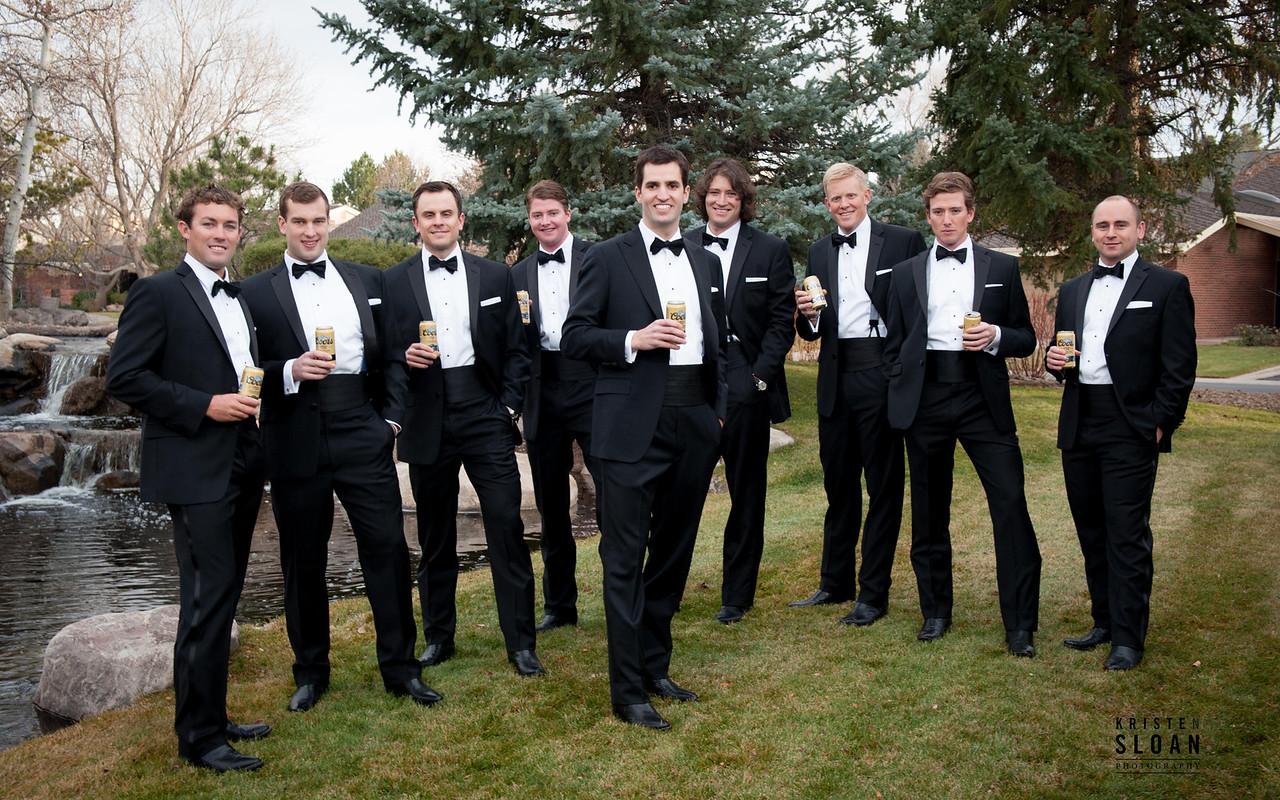 groomsmen cowboy boots black tie