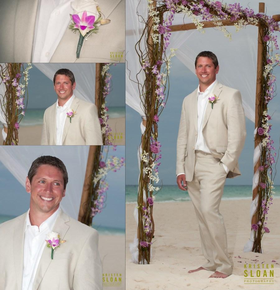 playacar palace mexico wedding groom flowers