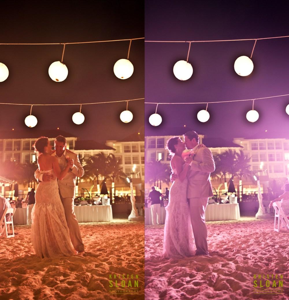 mexico beach wedding first dance playa car palace