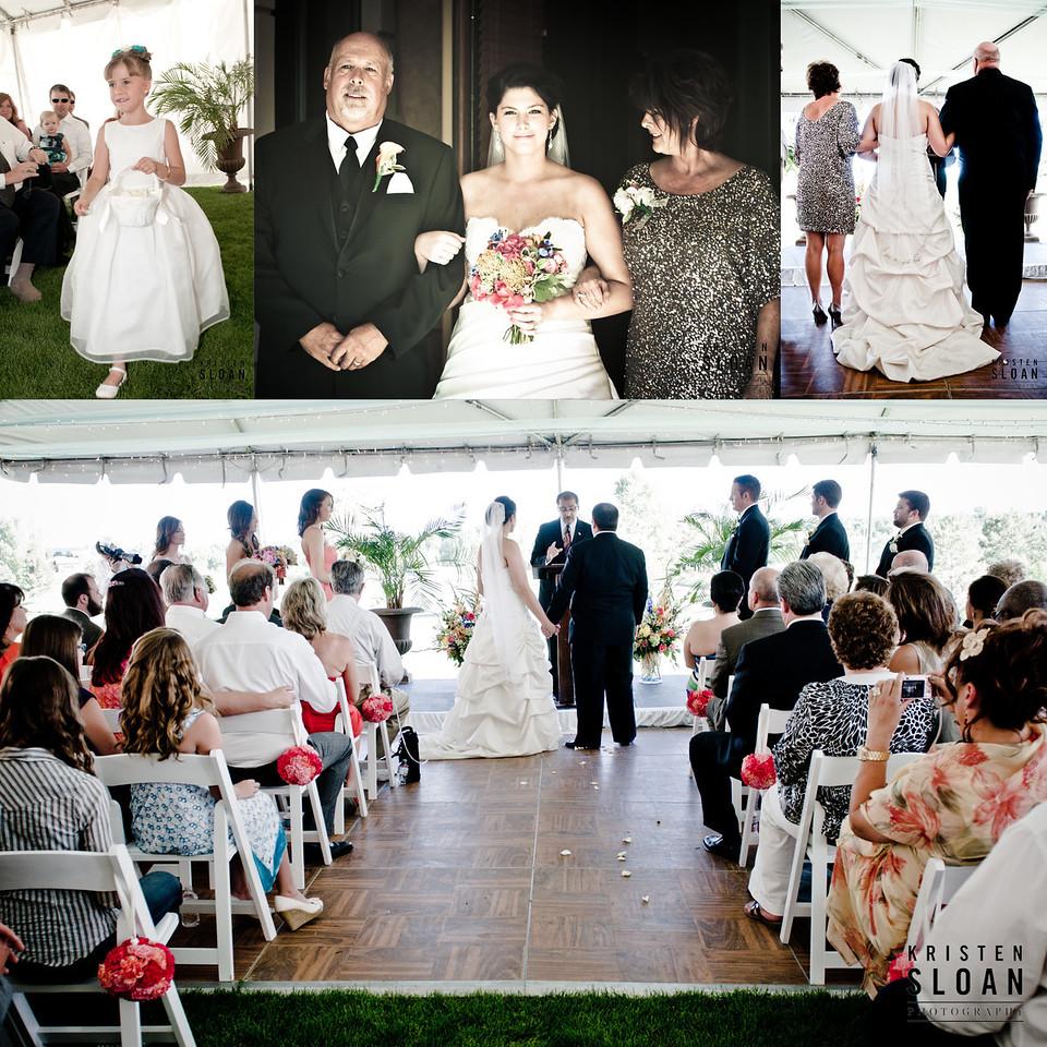 ceremony denver wedding outdoors golf course