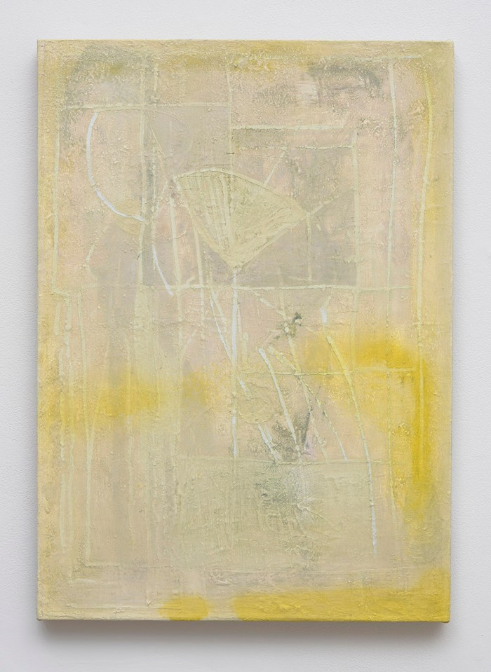Yellow Weller, 2015, oil and pigment on linen, 24 1/4 x 17 1/4 inches