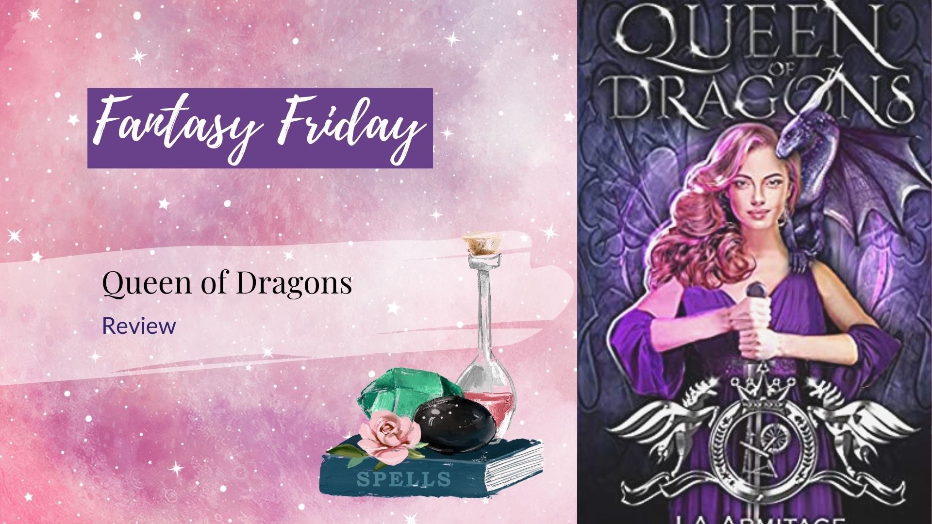 Read more about the article Fantasy Friday: Queen of Dragons by J. A. Andrews