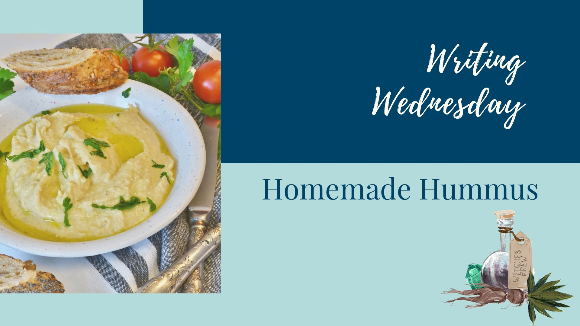 You are currently viewing Writing Wednesday: Homemade Hummus