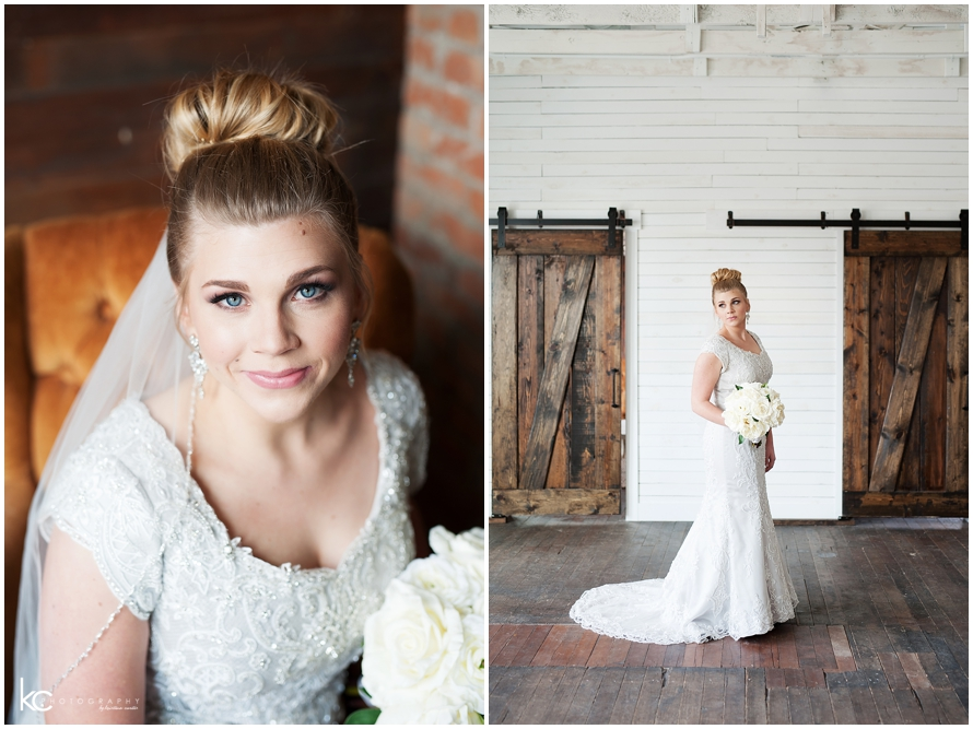 Indoor Bridals | Utah Studio| Kristina Curtis Photography