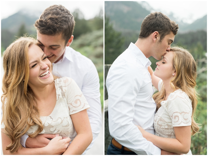 playful, beautiful summer engagements, pine trees and a lake, utah wedding photography www.kristinac