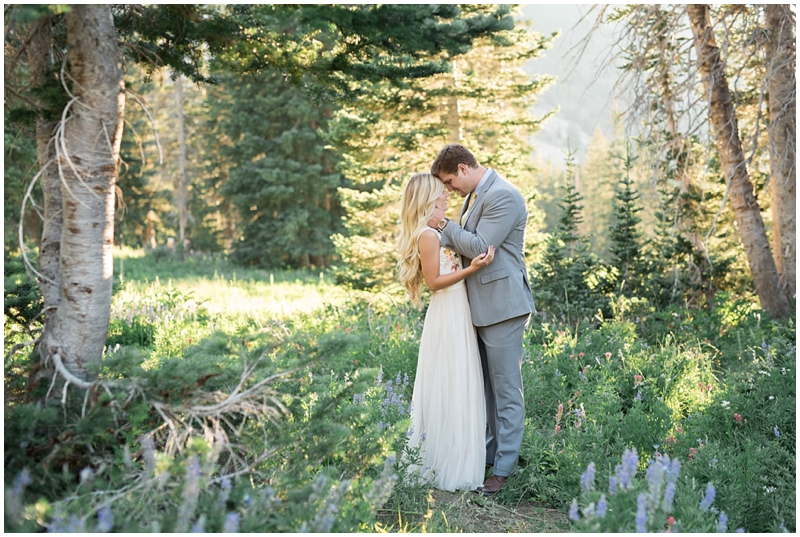 Summer Mountains and Wildflower Engagements | Kristina Curtis Photography Utah