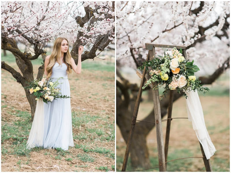Spring Blossom Wedding Bridals | Utah Kristina Curtis Photographer