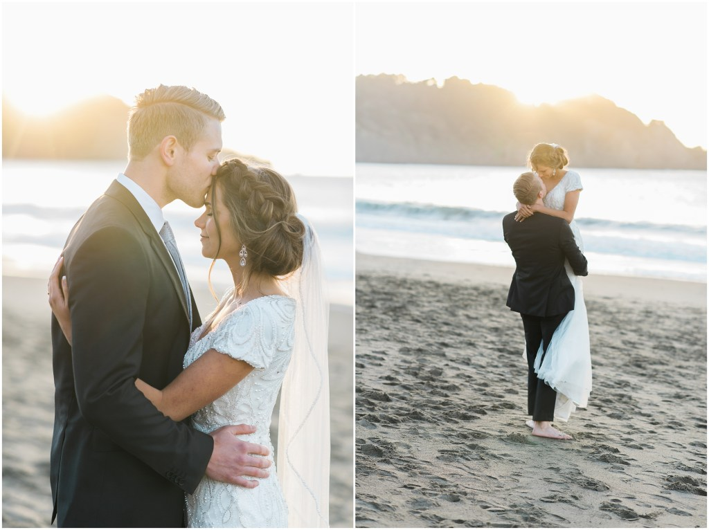 Golden Gate Bridge Wedding | California Beach | Kristina Curtis Photography