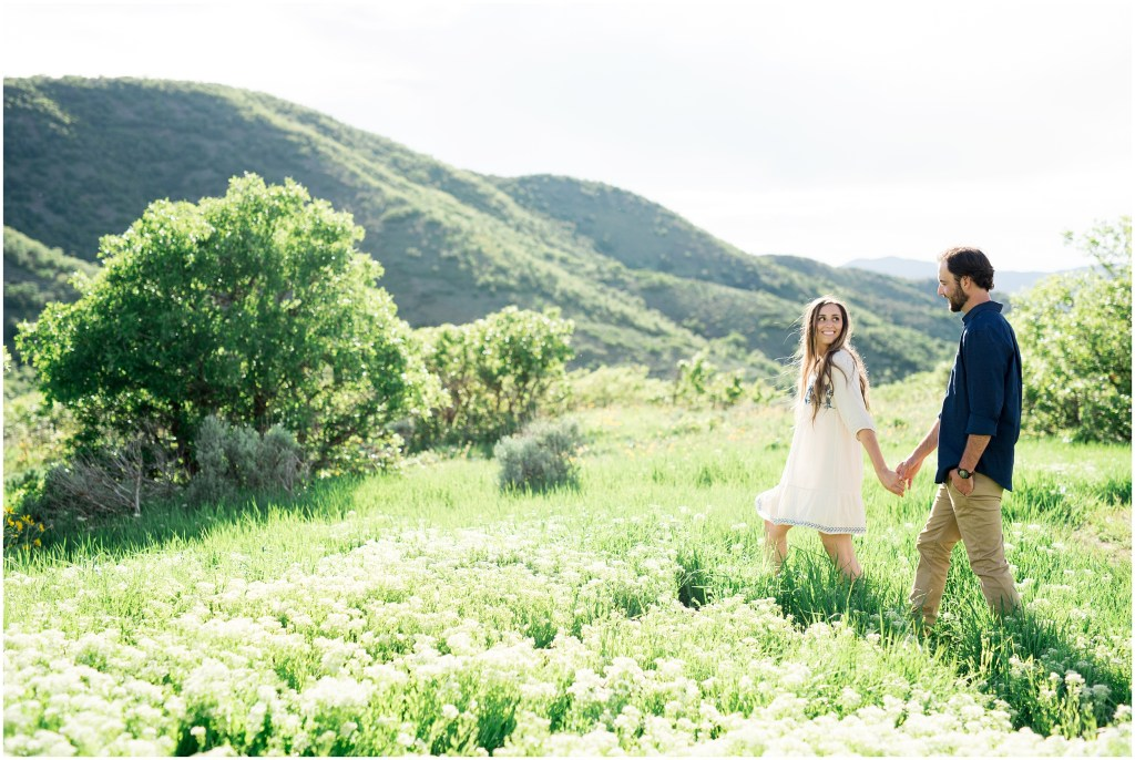 Wild Flowers + Woodsy Engagements | Utah Kristina Curtis Photography