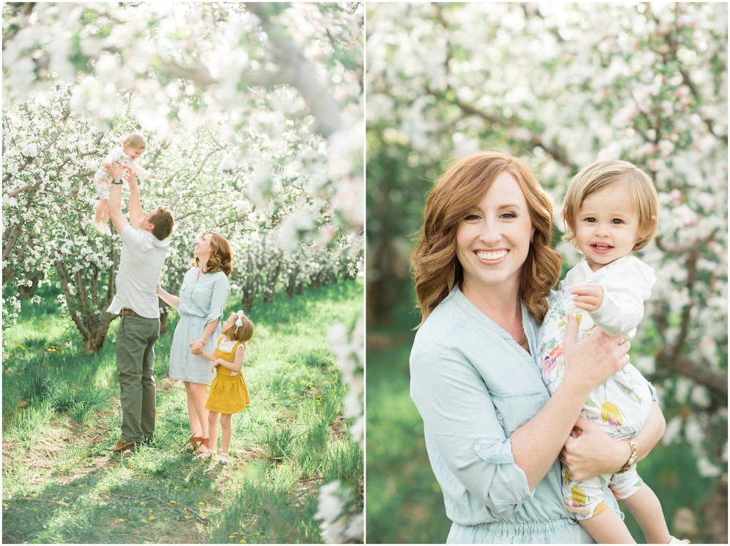 Spring Blossoms Family Session | Utah Kristina Curtis Photography
