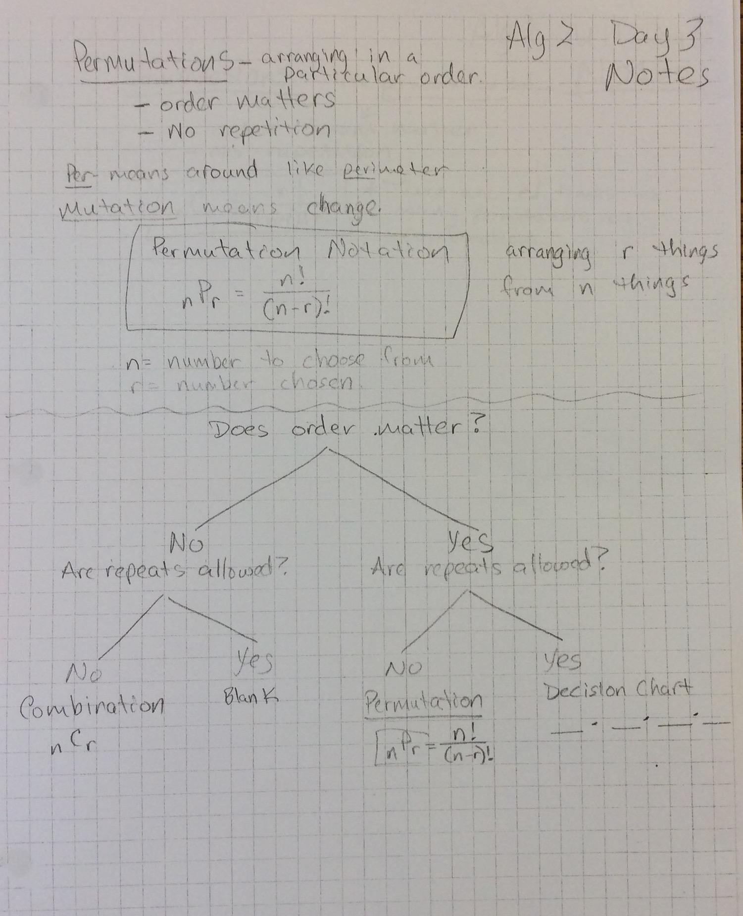Math 3 Unit 7