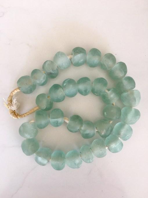 aqua glass vintage african beads