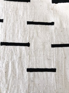 vintage white mudcloth with black stripes