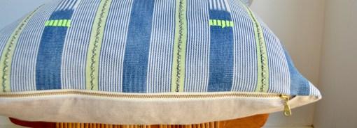 faded vintage baule pillow