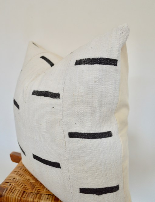 african mudcloth with black stripes