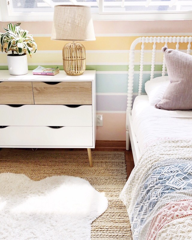 Rainbow Wall Kids Room