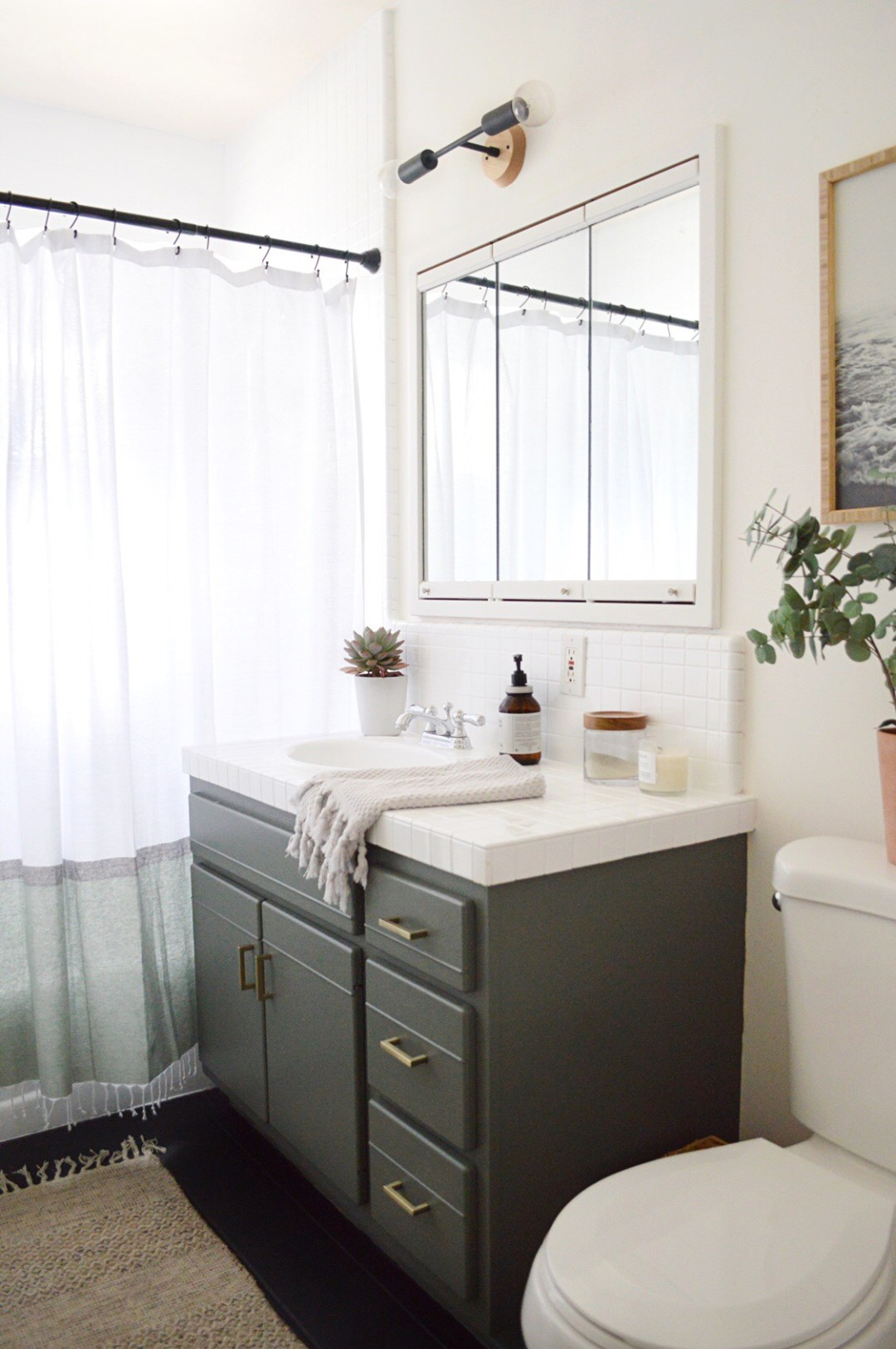 Kristin Dion Design DIY Bathroom Remodel After Photo