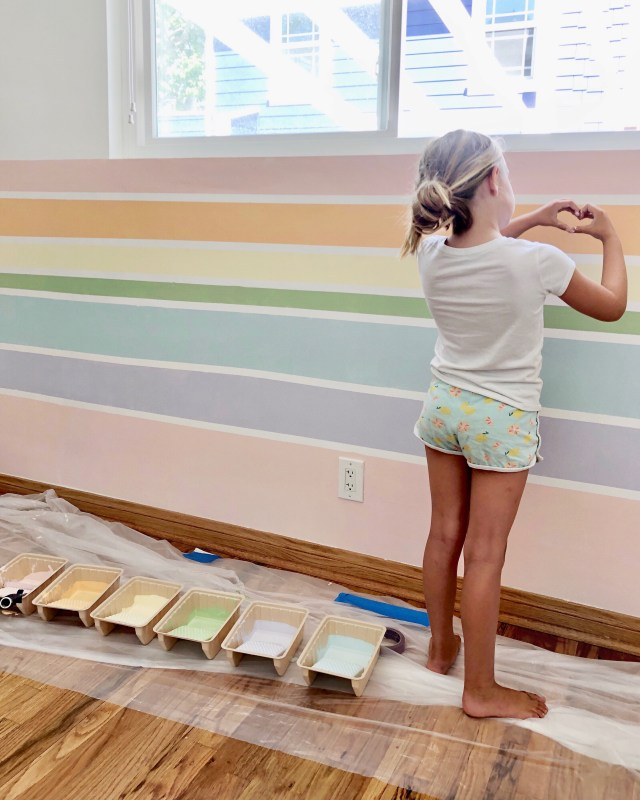 Rainbow Wall DIY | Kristin Dion Design