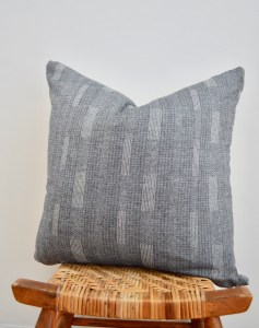 vintage striped hmong pillow
