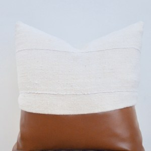 faux leather + mudcloth pillow