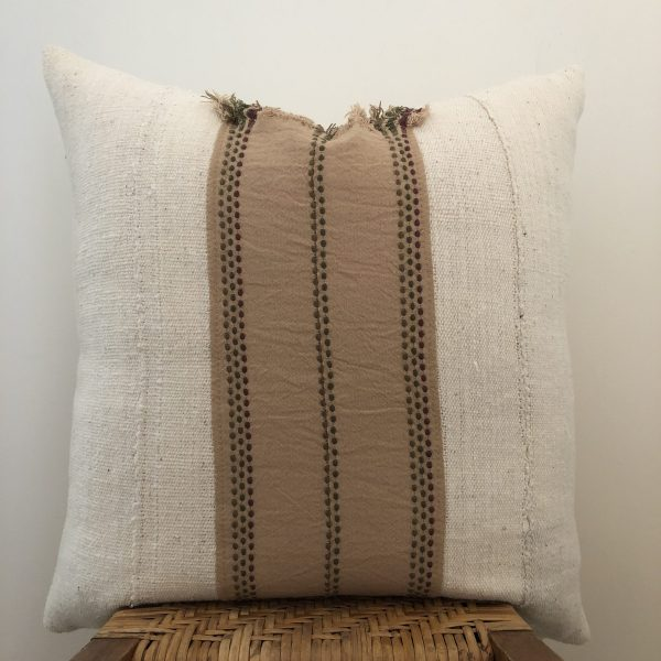 vintage mudcloth pillow