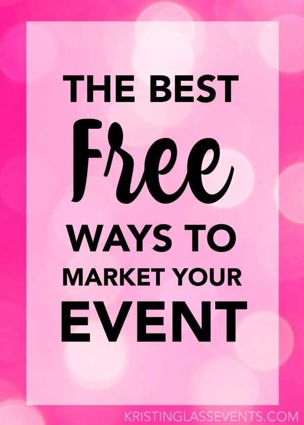 So you're planning a big event, but you don't have a big budget to go with it? No problem! In today's world, there are more free marketing opportunities available than ever before. Don't get me wrong, paid marketing is great and can usually expose you to a whole new audience, but it is not the only option. Read on for the best free ways to market events!