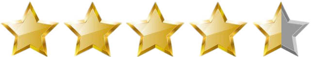 Image result for 4 and a half stars image