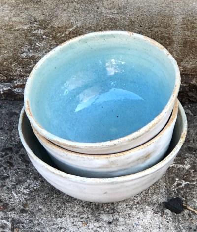 Set of rustic nesting bowls