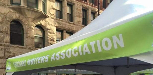 CWA tent at Printers Row