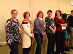 In Print Presenters: Kathleen Tresemer, Catherine Conroy, Mary Lamphere, me, and Chris Cacciatore