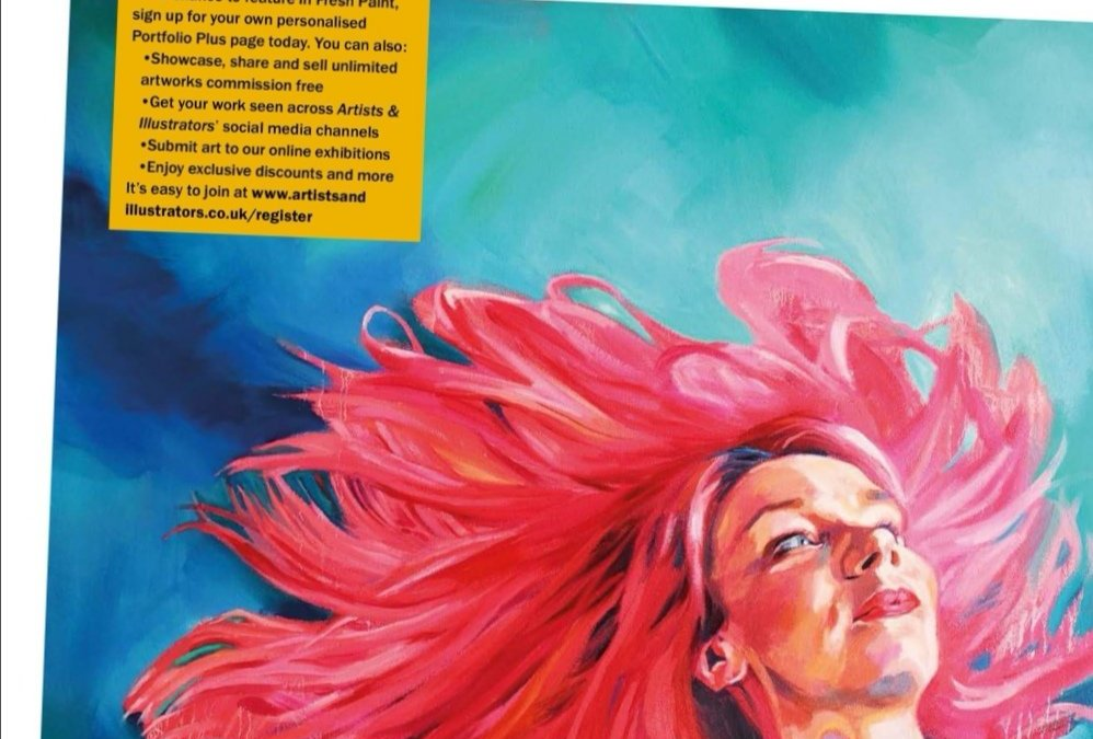 My painting featured in Artists and Illustrators magazine