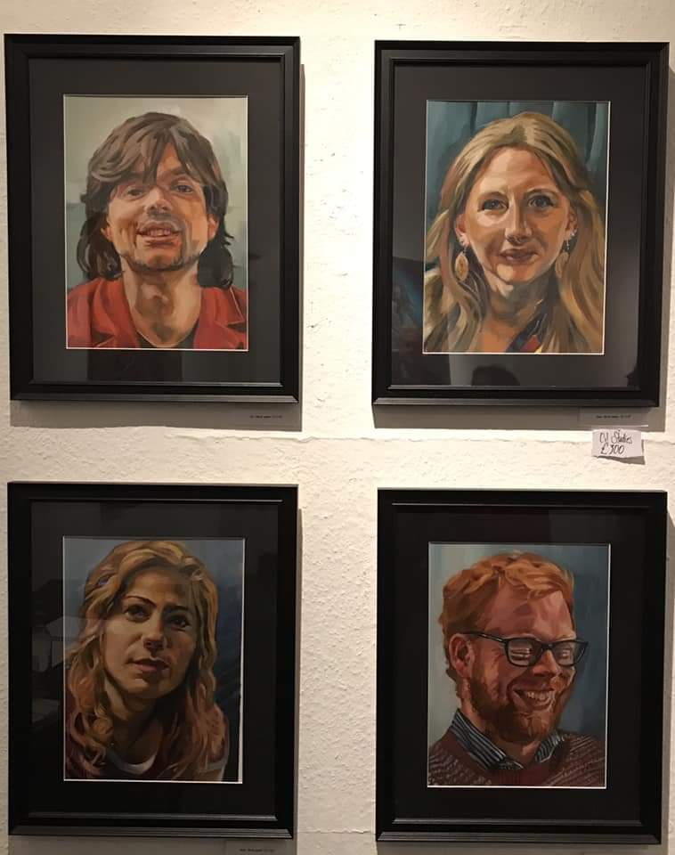 Oil sketch portraits