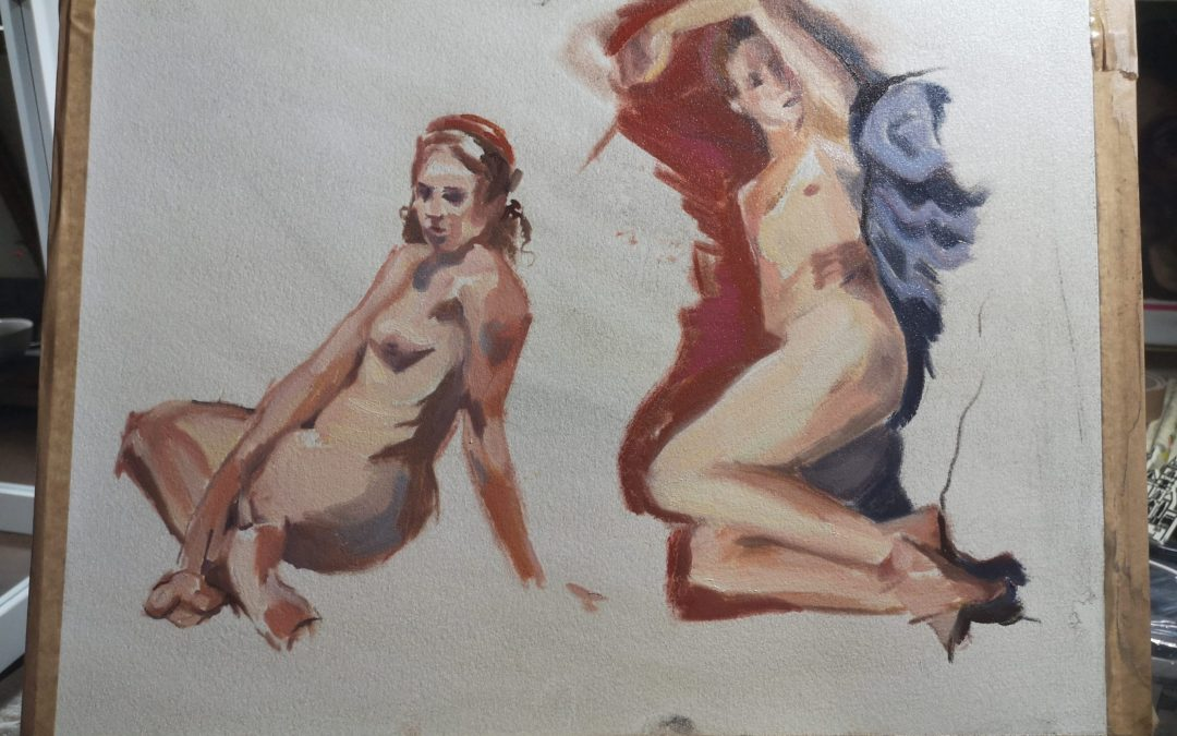 Oil figure sketches