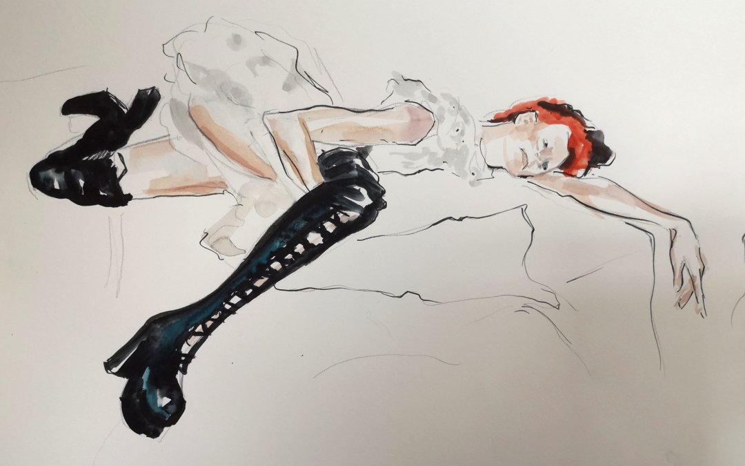 From a Drawing Cabaret Couture sketch session