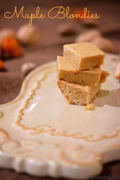 Favorite Fall Desserts  Maple Blondies