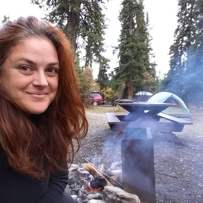 Campfire in Denali